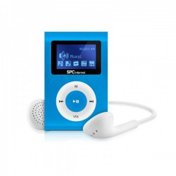 "MP3 SPC SPORT CLIP&GO 4GB 1"" AZUL"
