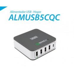 ALIMENTADOR 3GO CASA USB 1QC+3USB+1TYPE-C 40W