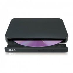 REGRABADORA DVD EXT. LG ULTRA SLIM GP90EB70 NEGRA USB 2