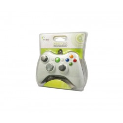 GAMEPAD / MANDO XBOX 360 CON CABLE BLANCO