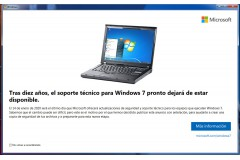 Windows 7 anuncia su fin.