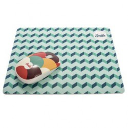 ALFOMBRILLA SMILE SILICON PRO MOUSE PAD BLUE GEOMETRIC